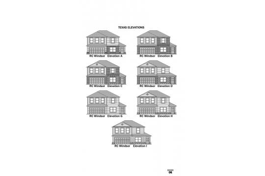 RC Windsor Elevations TX
