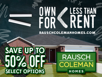 Rausch Coleman Homes Launches Own For Less Than Rent